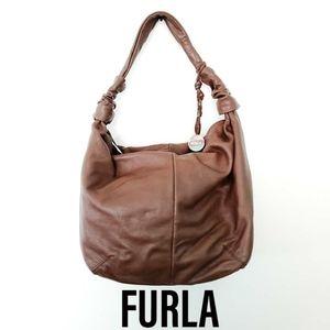 Furla Brown Leather Hobo